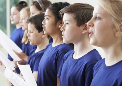 School Children Singing In Choir Together
