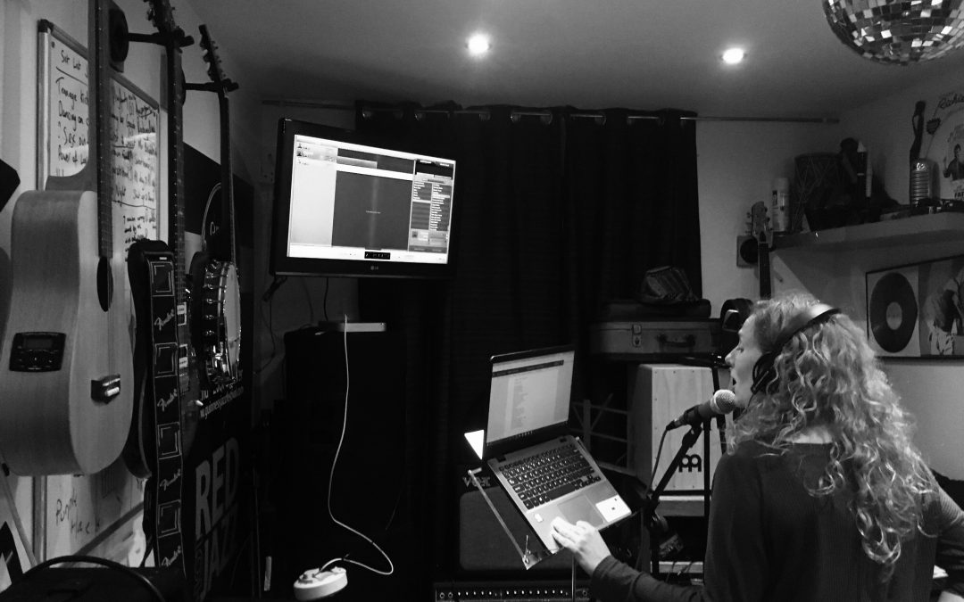 Recording time- lots of amazing songs coming to schools soon:)